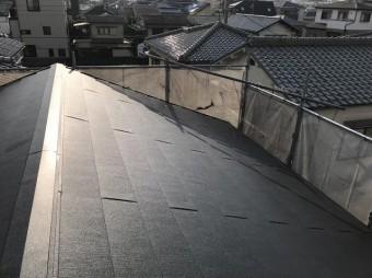 大屋根をガルテクトへ葺き替え