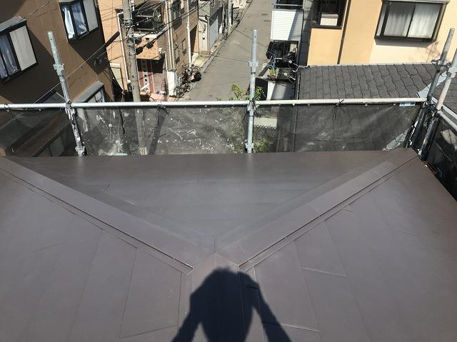 ガルテクト設置の屋根