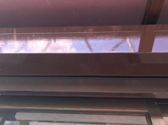 奈良市の住宅のシャッターBOX塗装完成