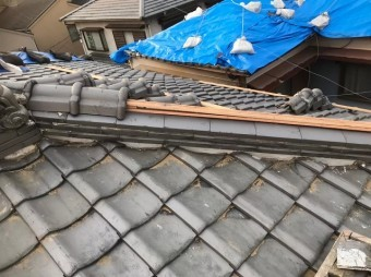 奈良市 冠瓦 設置