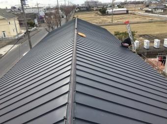 香芝市の和瓦屋根に立平葺きを設置