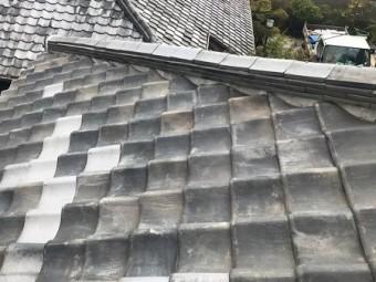 大和郡山市 棟瓦の取り直し工事 施工後