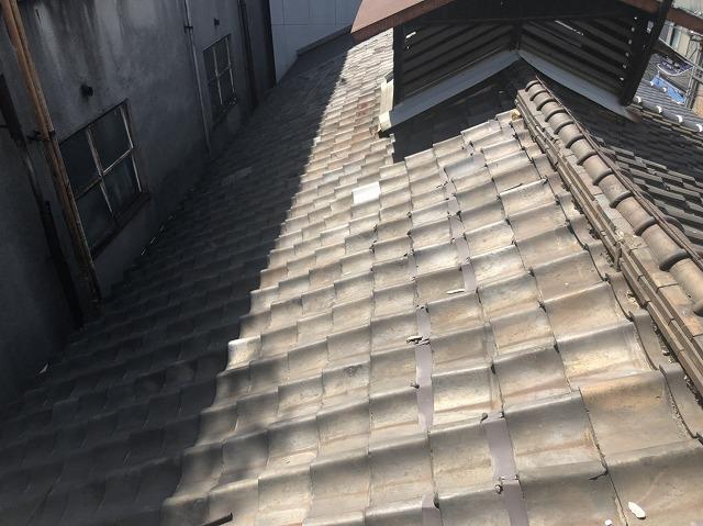 工事前の越屋根の様子