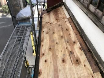 奈良市 瓦撤去 野地板