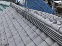 橿原市の和瓦屋根の崩れた棟の積み直し完成