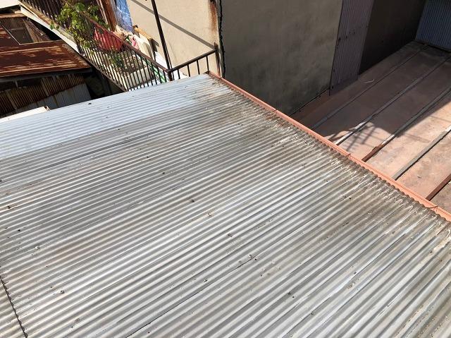 奈良市の波型トタン点検