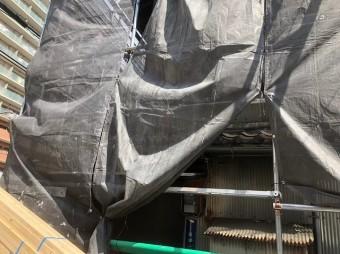 奈良市の雨漏り修理の足場