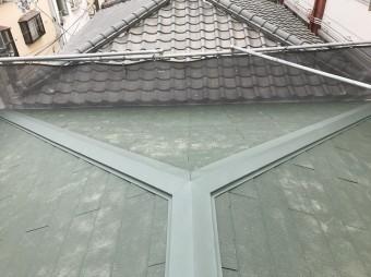 スレートに生まれ変わった屋根