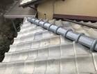 広陵町で釉薬瓦の差し替え補修