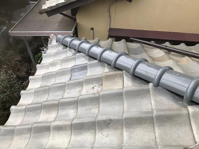 広陵町で瓦の差し替え工事