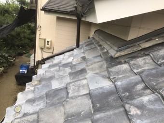 工事前の下屋根の様子