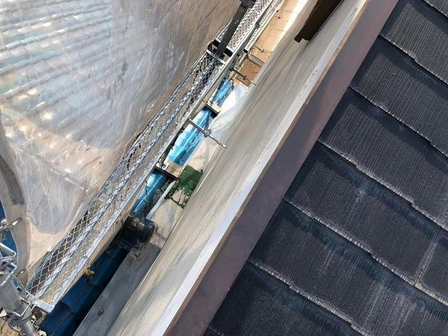 奈良市のカラーベスト屋根工事の足場