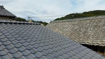 瓦設置後の屋根