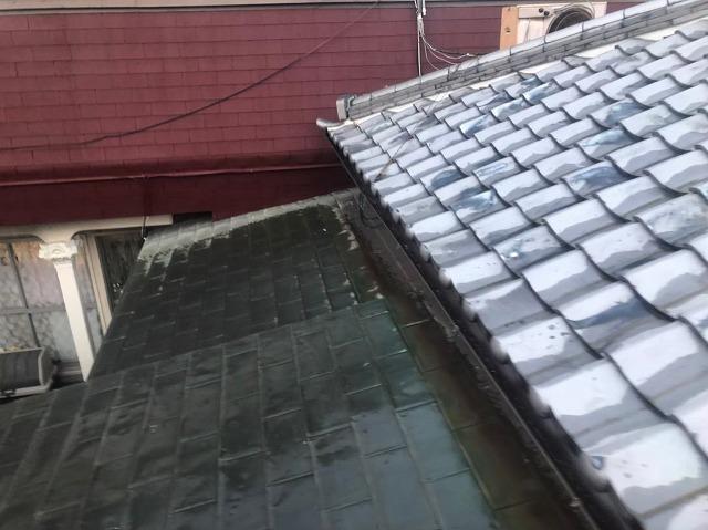 奈良市の瓦屋根の雨樋施工後