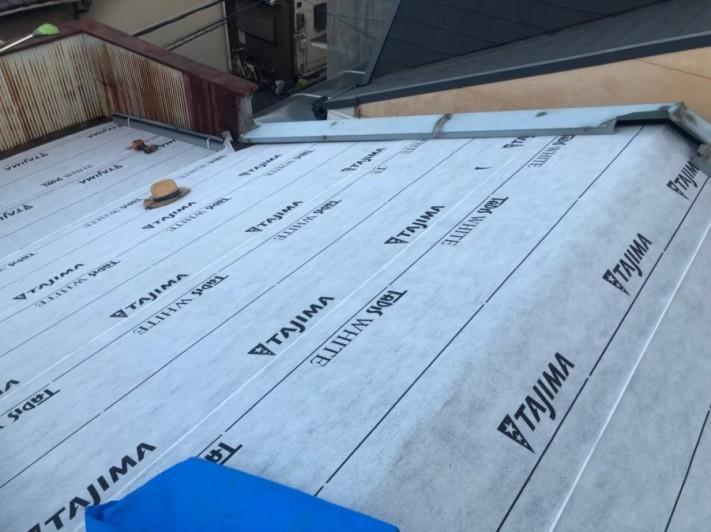 奈良市の屋根に防水機能を追加