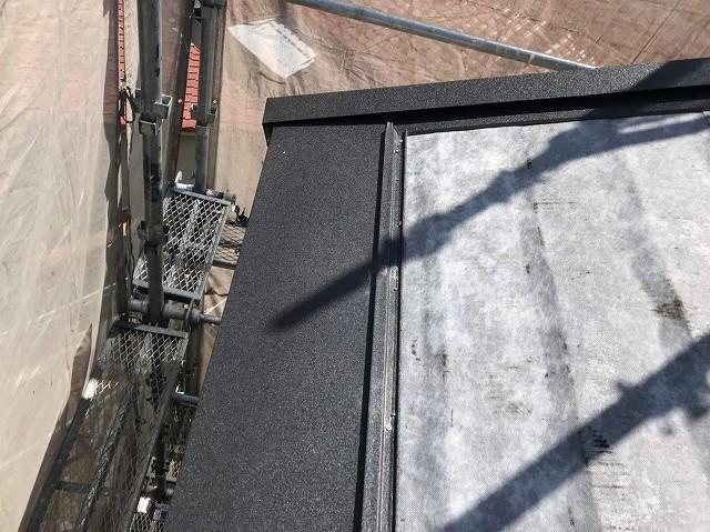 軒先から棟に向けてガルテクト設置