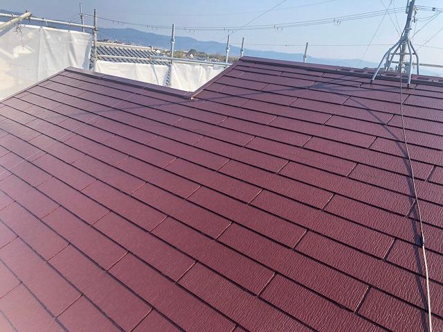 上塗り完成の屋根