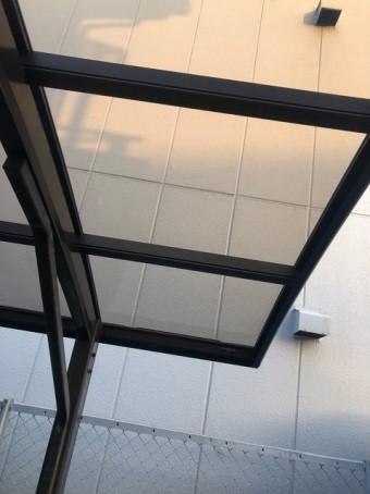 王寺町 カーポートの屋根 補修後