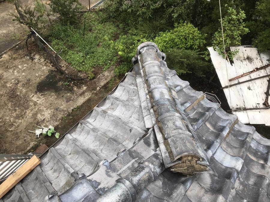 工事を始める前の和瓦屋根