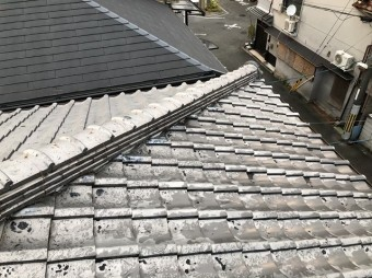 天理市 雨漏りの瓦屋根 無料点検