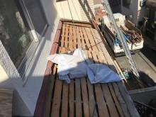 下屋根の瓦撤去葺き土