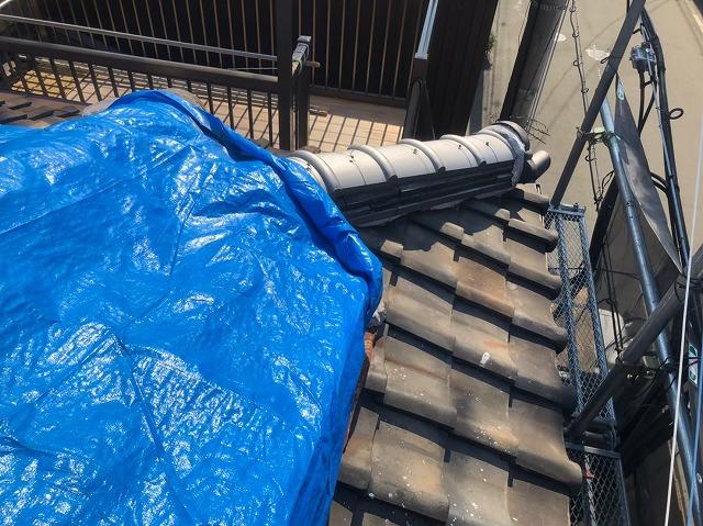 奈良市の屋根修理の応急処置