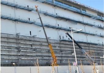 大きな工場や倉庫の大規模な工事